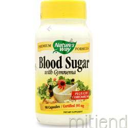 Blood Sugar w/ Gymnema Extract 90 caps NATURE'S WAY