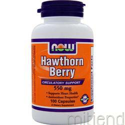 Hawthorn Berry 550mg 100 caps NOW