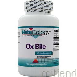 Ox Bile 100 caps NUTRICOLOGY