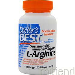 Sustained Plus Immediate Release L-Arginine 120 tabs DOCTOR'S BEST