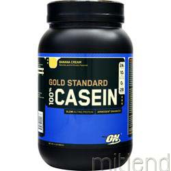 100% Gold Standard Casein Protein Banana Cream 2 lbs OPTIMUM NUTRITION