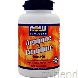 Arginine and Citrulline 120 caps NOW