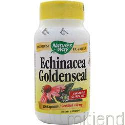 Echinacea with GoldenSeal 100 caps NATURE'S WAY