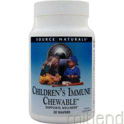 Children's Immune Chewable 30 wafrs SOURCE NATURALS