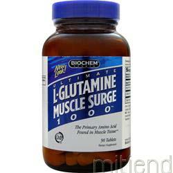 L-Glutamine Muscle Surge 1000 90 tabs BIOCHEM