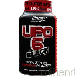 Lipo-6 Black 120 caps NUTREX RESEARCH