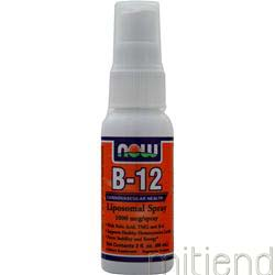 B-12 Liposomal Spray 1000mcg 2 fl oz NOW