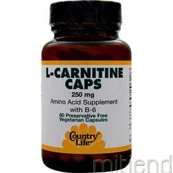 L-Carnitine 250mg 60 caps COUNTRY LIFE