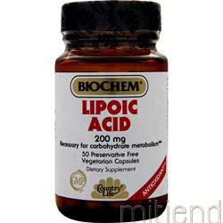 Lipoic Acid 200mg 50 caps BIOCHEM