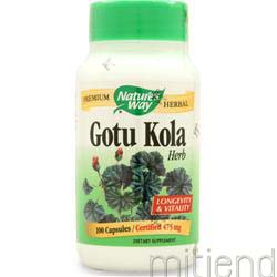 Gotu Kola Herb 100 caps NATURE'S WAY