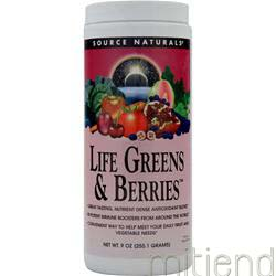Life Greens and Berries 9 oz SOURCE NATURALS
