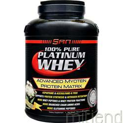 100% Pure Platinum Whey Chocolate Mint 4 93 lbs SAN