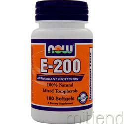 E-200 Mixed Tocopherols 100 sgels NOW