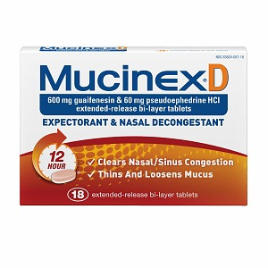 MucinexDM Expectorant and Cough Suppressant, 600mg, Extended-Release Bi-Layer Tablets 20 ea