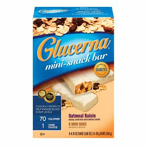 Glucerna Snack Bar for People with Diabetes, Chocolate Caramel 4 ea