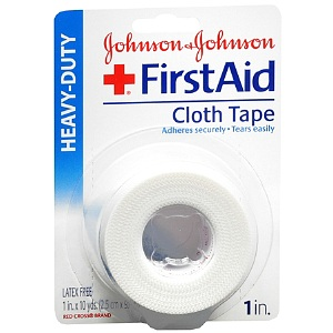 Johnson & Johnson First Aid Clear Tape, 1 in. x 10 yd. 1 ea