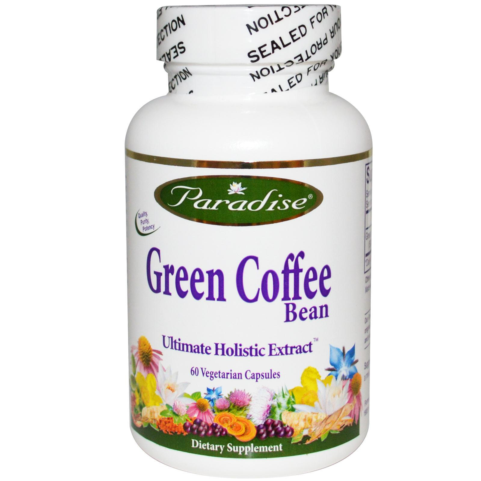 Green Coffee Bean Cafe Verde 800 mg Paradise Herb 60 capsulas