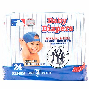 Braco Manufacturing New York Yankees Supreme Disposable Diapers