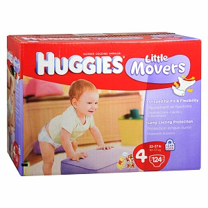 Huggies Little Movers Diapers 124 Each