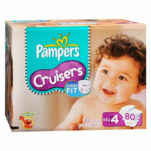 Pampers Cruisers Diapers 80 Each