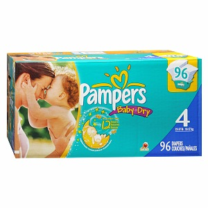 Pampers Baby Dry Diapers 96 Each