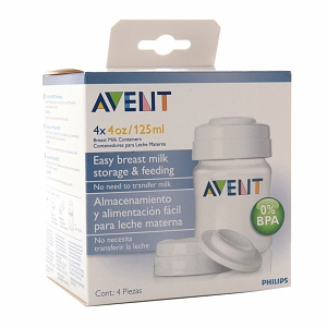 Avent BPA Free Breast Milk Storage Containers (PP) 4 ea