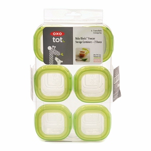 OXO tot Baby Blocks Freezer Storage Containers (6-2oz Blocks)