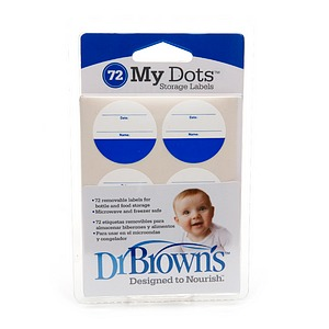 Dr. Brown's My Dot Storage Labels 72 ea
