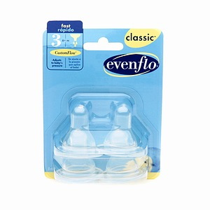 Evenflo Classic Fast Flow Nipples 4 ea
