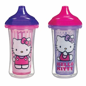 Munchkin 9oz Hello Kitty Click Lock Insulated Sippy Cups (Assortment) 2 ea