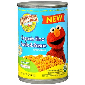 Earth's Best Sesame Street Organic Elmo Mini Meals Pasta and Sauce 15 oz