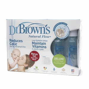 Dr. Brown's Natural Flow Deluxe First Year Feeding Set 1 set