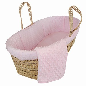 Tadpoles Dimple Velour Moses Basket