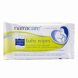 Natracare Organic Baby Wipes 50 ea