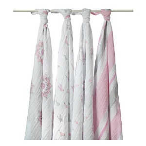 Aden + Anais For the Birds Swaddle 4 PK 1 ea
