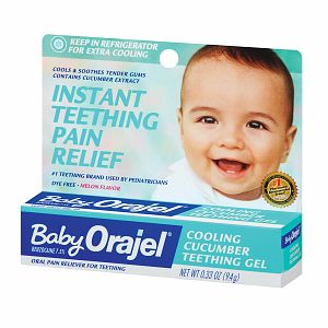 Orajel Baby Cooling Melon Teething Gel 0.33 oz (9.4 g)