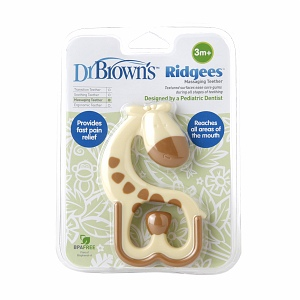 Dr. Brown's Ridgees Giraffe Teether (3+ Months) 1 ea