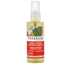 Body Massage Oil Energy Revive Organic Bergamot, Grapefruit & Lime