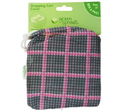 Green Sprouts Shopping Cart Cover Pink & Grey CLEARANCE PRICED