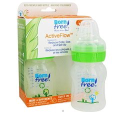Active Flow Eco Deco Baby Bottle BPA Free Twin Pack 2 x 5 oz. Bottles