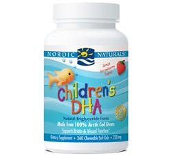 Children's DHA Strawberry 250 mg.