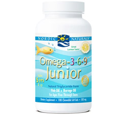 Omega 3 6 9 Junior Lemon 500 mg.