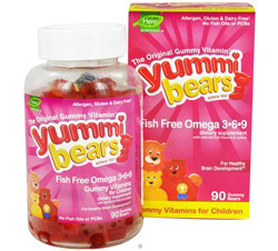 Yummi Bears Children's Omega 3-6-9 Fish Free