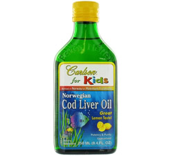 Norwegian Cod Liver Oil for Kids Lemon Flavor