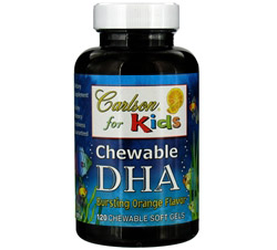Carlson For Kids Chewable DHA Bursting Orange Flavor