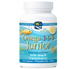 Omega 3 6 9 Jr. Lemon 500 mg.
