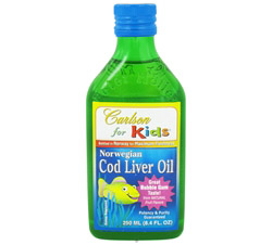 Norwegian Cod Liver Oil for Kids Bubble Gum Flavor