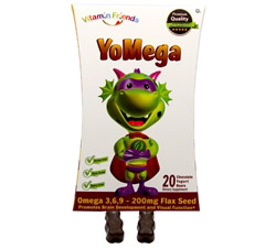 Yomega Omega 3-6-9 with Flax Seed Chocolate Flavor - 20 Yogurt Bears
