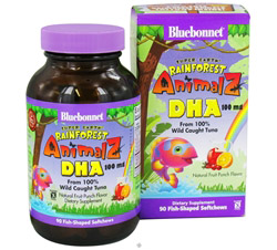 Animalz DHA From 100% Wild Caught Tuna Natural Fruit Punch Flavor 100 mg.