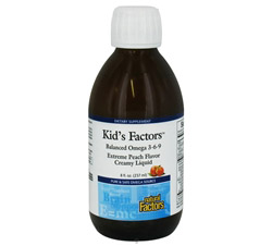 Kid's Factors Balanced Omega 3-6-9 Creamy Liquid Extreme Peach Flavor Formerly Learning Factors CLEARANCE PRICED
